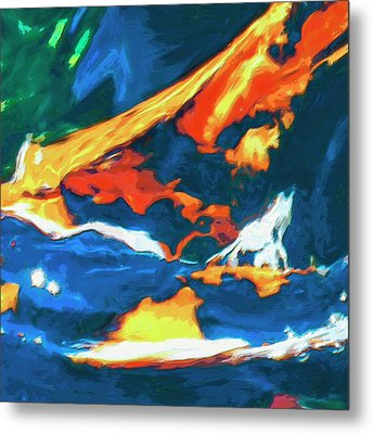 Metal Print featuring the painting Tidal Forces by Dominic Piperata