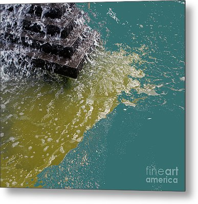 Metal Print featuring the photograph Tidal Stand Off by Bill Thomson