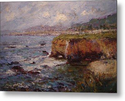 Tidewater On The Cliffs II Metal Print