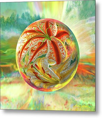 Metal Print featuring the digital art Tiger Lily Dream by Robin Moline