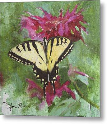 Tiger Swallowtail Metal Print by Anna Rose Bain