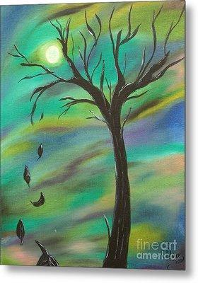 Tim Burton Tree Metal Print by Sesha Lee