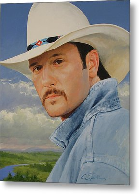 Tim Mcgraw Metal Print by Cliff Spohn