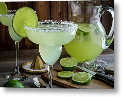 Metal Print featuring the photograph Time For Margaritas by Teri Virbickis