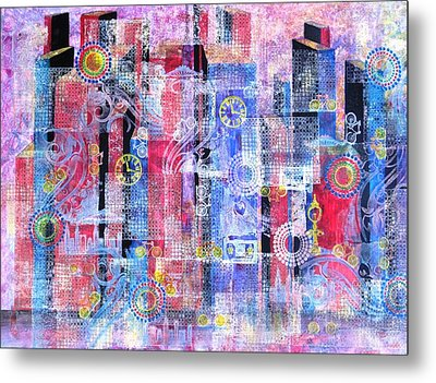 Time In The City Metal Print by David Raderstorf