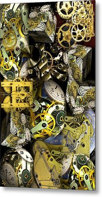 Time Is Stacking Up Metal Print by Ron Bissett