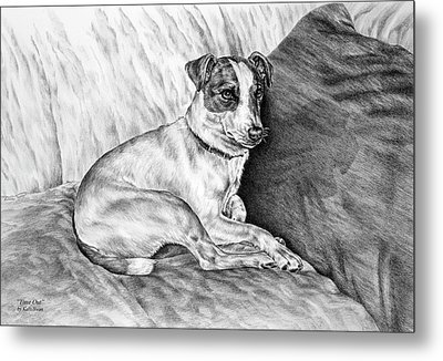 Time Out - Jack Russell Dog Print Metal Print by Kelli Swan