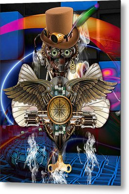 Time Traveler Art Metal Print