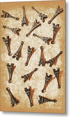 Time Worn Trinkets From Vintage Paris Metal Print by Jorgo Photography - Wall Art Gallery