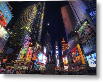 Times Square Moonlight Metal Print by Yhun Suarez
