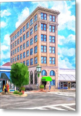 Metal Print featuring the mixed media Timmerman Building - Andalusia - First National Bank by Mark Tisdale