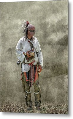 Tin Cup Of Cool Water Metal Print by Randy Steele