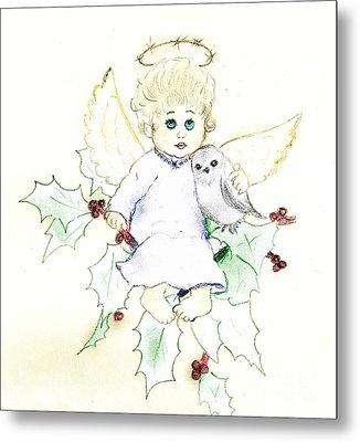 Tinted Little Angel Metal Print