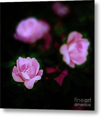 Tiny Pink Azaleas Metal Print