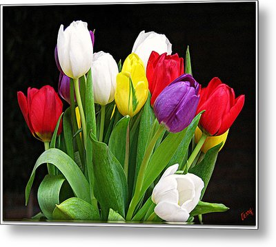 Tiptoe Through The Tulips Metal Print