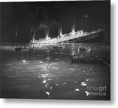 Titanic: Re-creation, 1912 Metal Print by Granger
