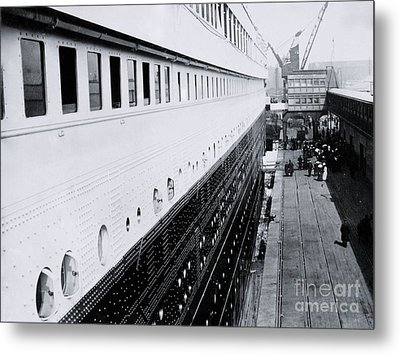 Titanic's First-class Gangway Metal Print by The Titanic Project