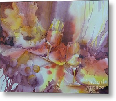 To The Bottom Of The Glass Metal Print by Donna Acheson-Juillet