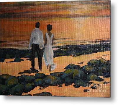 To Wed At Rocky Point Metal Print by Terri Thompson