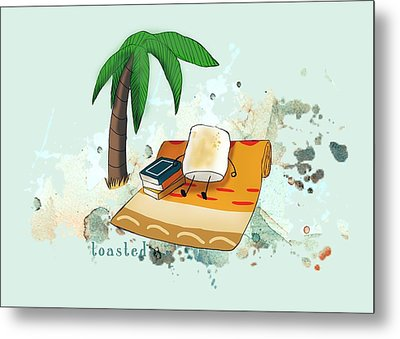 Metal Print featuring the digital art Toasted Illustrated by Heather Applegate
