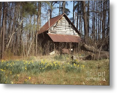Metal Print featuring the photograph Tobacco Barn In Spring by Benanne Stiens