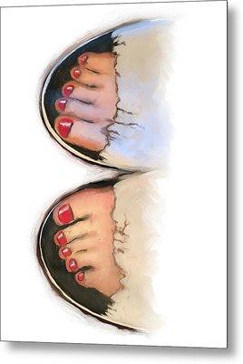 Toes 01 Metal Print