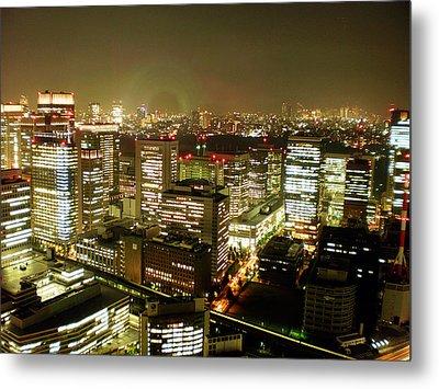 Tokyo Skyline Metal Print by Nancy Ingersoll