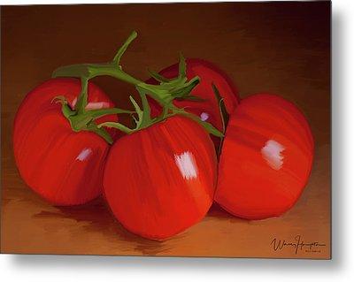 Tomatoes 01 Metal Print by Wally Hampton