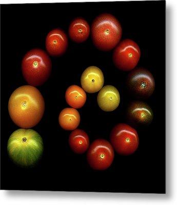 Tomatoes Metal Print by Photograph by Magda Indigo