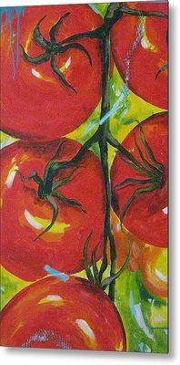 Tomatoes Metal Print by Terri Rodstrom
