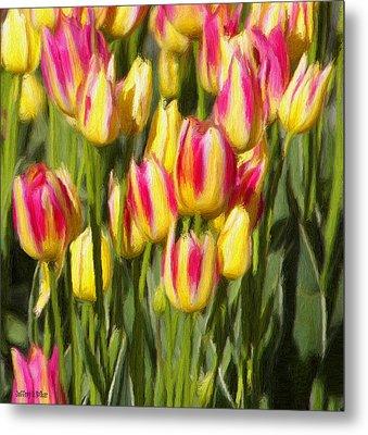 Too Many Tulips Metal Print by Jeffrey Kolker