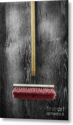 Metal Print featuring the photograph Tools On Wood 14 On Bw by YoPedro