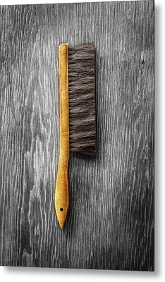 Metal Print featuring the photograph Tools On Wood 52 On Bw by YoPedro