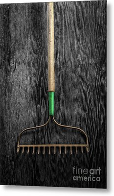 Metal Print featuring the photograph Tools On Wood 9 On Bw by YoPedro