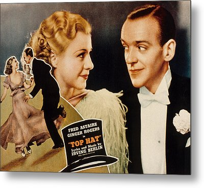 Top Hat, Lobbycard, Ginger Rogers, Fred Metal Print by Everett