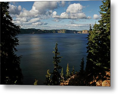Top Wow Spot - Crater Lake In Crater Lake National Park Oregon Metal Print by Christine Till