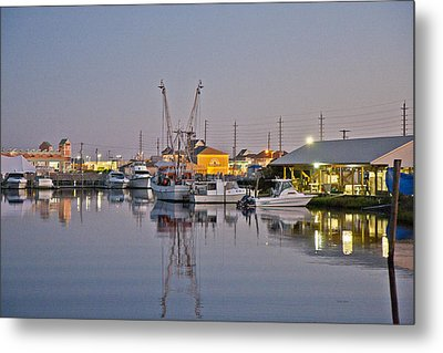 Topsail Island Nc Sound Metal Print by Betsy Knapp