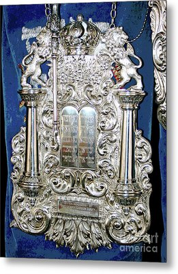 Torah Breast Plate 2 Metal Print by Larry Oskin