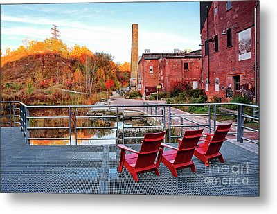 Metal Print featuring the photograph Toronto Brickworks Autumn View by Charline Xia