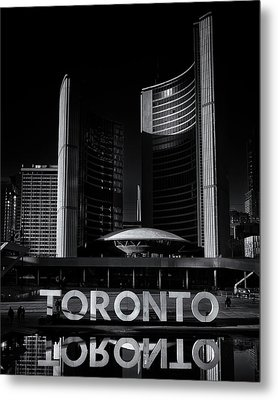 Metal Print featuring the photograph Toronto City Hall No 1 by Brian Carson