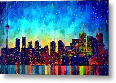 Toronto Skyline 10 - Da Metal Print by Leonardo Digenio