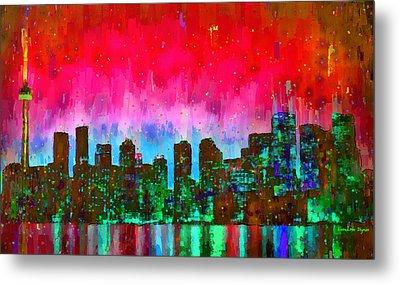 Toronto Skyline 17 - Pa Metal Print by Leonardo Digenio