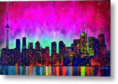 Toronto Skyline 19 - Pa Metal Print by Leonardo Digenio
