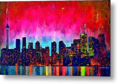Toronto Skyline 20 - Da Metal Print by Leonardo Digenio