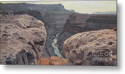 Toroweap Overlook Grand Canyon North Rim Metal Print by Barbara Barber