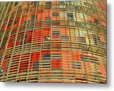 Torre Agbar Modern Facade Metal Print by Marek Stepan
