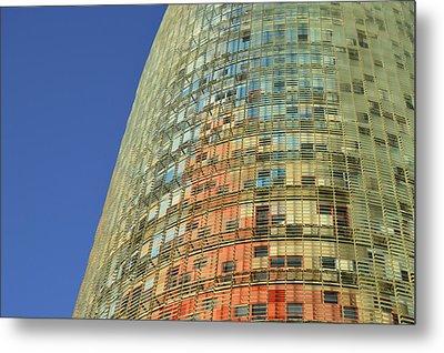 Torre Agbar  Metal Print by Marek Stepan