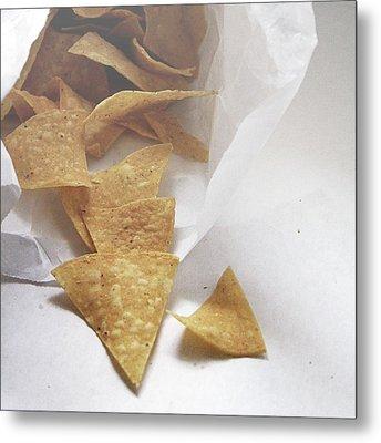 Tortilla Chips- Photo By Linda Woods Metal Print by Linda Woods