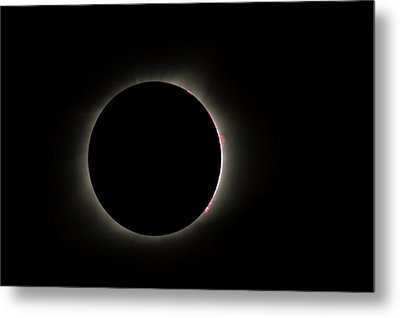 Total Eclipse Solar Flares Metal Print