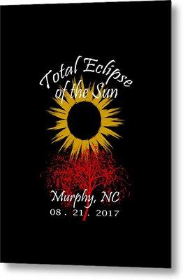 Total Eclipse T-shirt Art Murphy Nc Metal Print